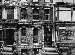 A historic photo of Tin Pan Alley on West 28th Street