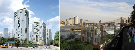 Rendering of Pier 6 towers and Pierhouse at Pier 1 (credit: Marvel)