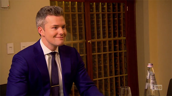 Ryan Serhant donning his best fake smile during last night's finale