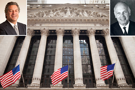 The New York Stock Exchange and Marc Holliday and Steven Roth (inset)