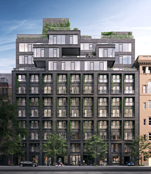 A rendering of the Flynn at 155 West 18th Street in Chelsea