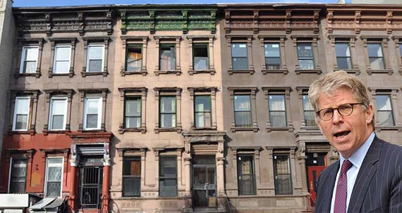 79 West 118th Street in Harlem (inset: Cyrus Vance)