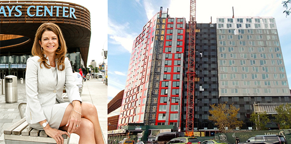 MaryAnne Gilmartin and the modular building at 461 Dean Street