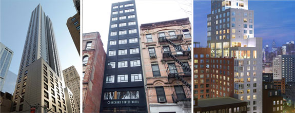 99 Washington Street, 163 Orchard Street and 171 Ludlow Street