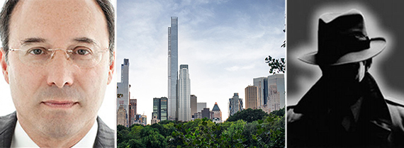 From left: Gary Barnett (Credit: Studio Scrivo) and rendering of Central Park Tower (Credit: New York YIMBY)