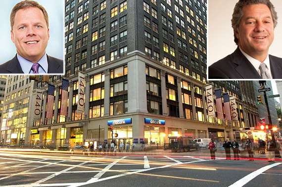 From left: Michael Happel, 1440 Broadway and Marc Holliday - See more at: https://therealdeal.com/2015/12/04/sl-green-nears-deal-to-acquire-new-york-reit/#sthash.AMTWl6Gm.dpuf