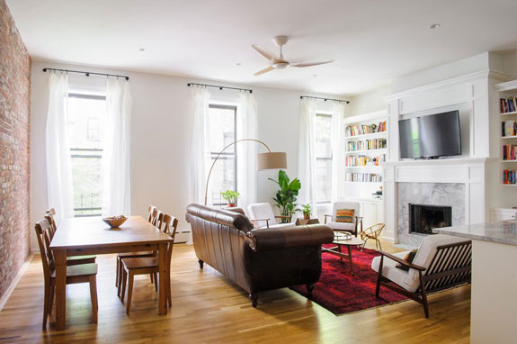 A Living Room In Fort Greene, Brooklyn, By Nina Etnier.