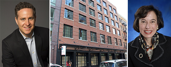 From left: David Scheiderman the Ludlow Hotel at 180 Ludlow Street on the Lower East Side and Deborah Gutoff thumb