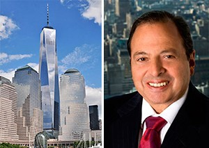 From left: 1 World Trade Center and Douglas Durst