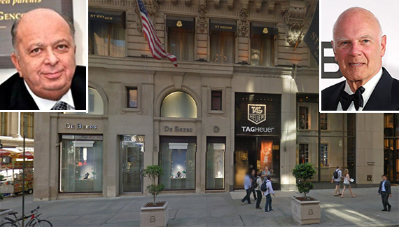 The St. Regis Hotel at 2 East 55th Street in Midtown (inset: Crown's Stanley Chera and Vornado's Steven Roth)