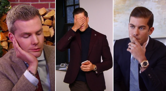 "Frowns all around for the men of ""Million Dollar Listing New York"""
