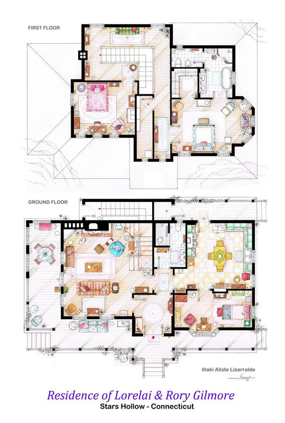 house_of_lorelai_and_rory_gilmore___floorplans_by_nikneuk-d5to28r