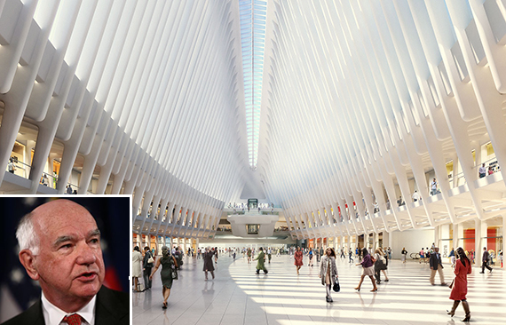 The World Trade Center Transportation Hub (inset: John Degnan)