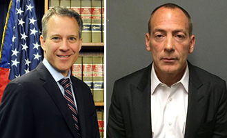 From left: Attorney General Eric Schneiderman and Steve Croman