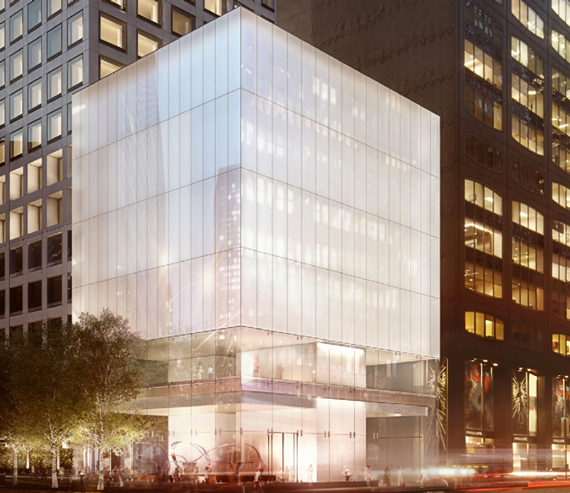 A rendering of the Park Avenue Cube