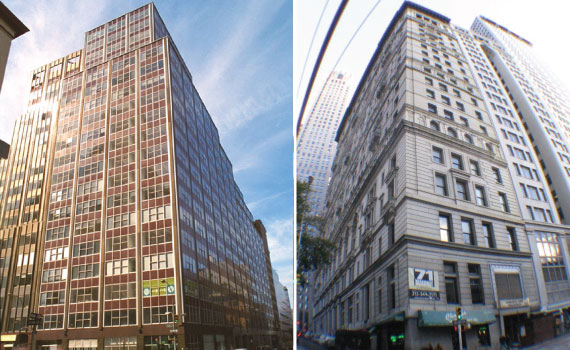From left: 50 Murray Street and 71 Broadway