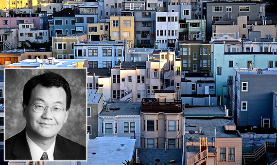 Lawrence Yun and houses in San Francisco (credit: Realtor.org, Pixabay)
