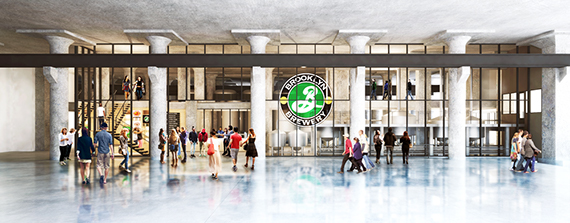 Rendering of the Brooklyn Brewery at the Brooklyn Navy Yard (credit: Davis Brody Bond)
