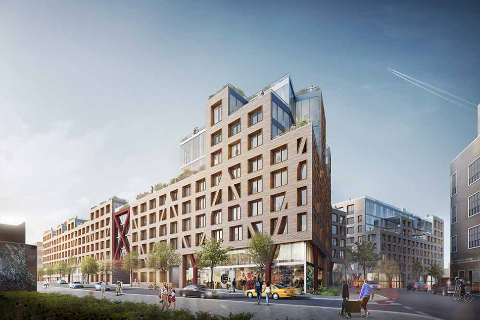 Renderings of All Year Management's Rheingold Brewery project (credit: ODA New York)