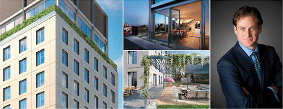 Renderings of Bowlmore Lane condos at 21 East 12th Street in Greenwich Village and Billy Macklowe