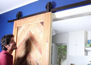 Screengrab of a barn door via YouTube