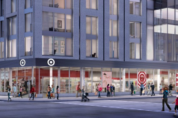 Rendering of Target at 615 10th Avenue (credit: Target)
