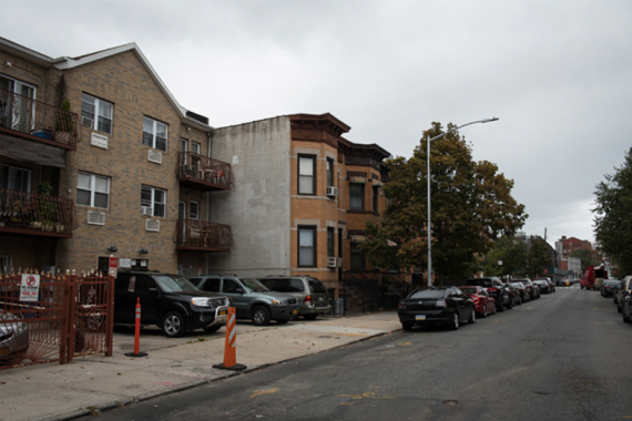 Owners of buildings like 1355 and 1357 Decatur Street in Brooklyn, left, are being reviewed for compliance with rent limits tied to the city's 421-a tax break. (Edwin J. Torres for ProPublica)