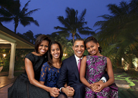 The Obamas and their Hawaiian holiday home (credit: Pete Souza via Wikimedia and Paradise Point Estates)