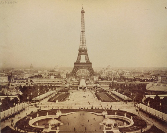 Image result for completion of the eiffel tower in 1889
