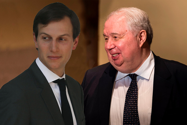 Image result for photos of kislyak and kushner