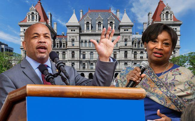 Assembly Speaker Carl Heastie and Senator Andrea Stewart-Cousins