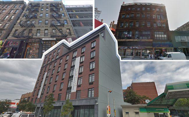Left: 122-124 Ludlow Street, 1007 Atlantic Avenue and 240 Broadway (Credit: Google Maps)
