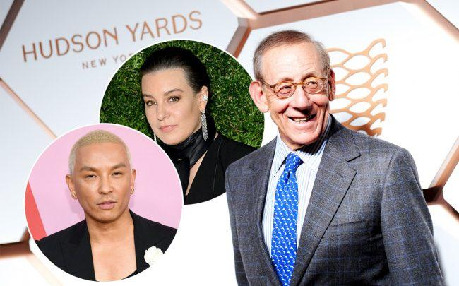 From left: Prabal Gurung, Dana Lorenz and Stephen Ross (Credit: Getty Images)