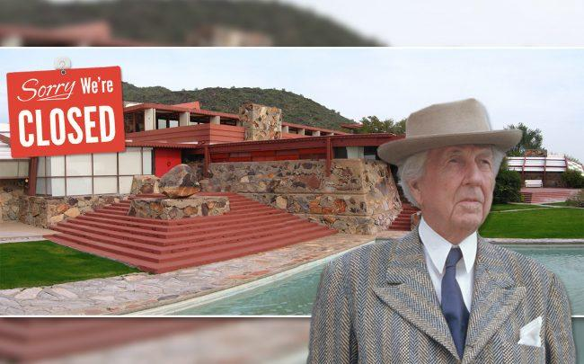 Frank Lloyd Wright and the School of Architecture at Taliesin Arizona Campus (Credit: Getty Images and Wikipedia)