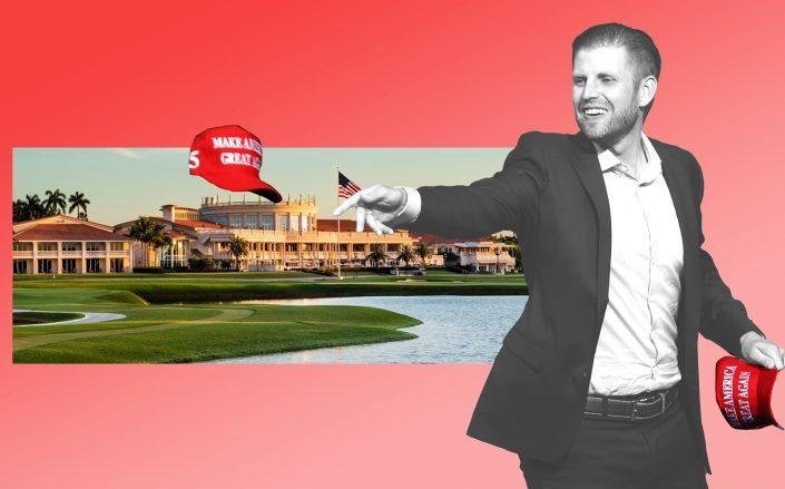 Eric Trump with Trump National Doral Miami (Getty, Trump Org)