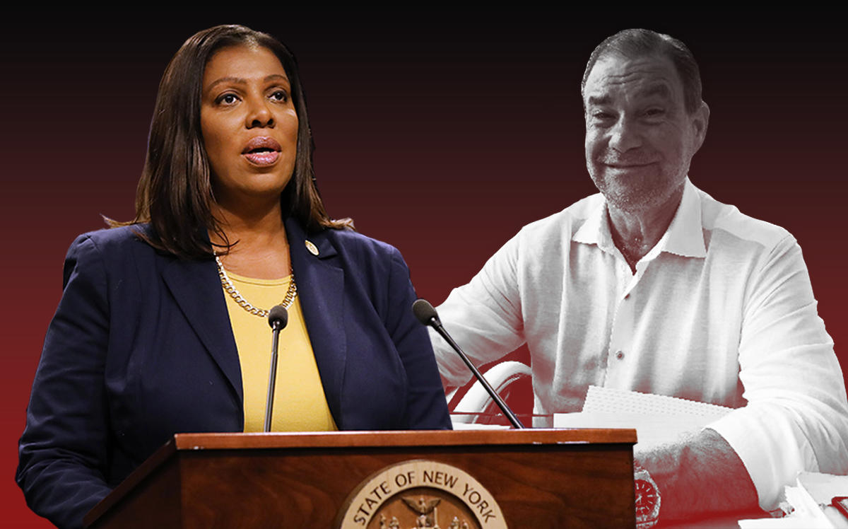 New York Attorney General Letitia James and TradeOff head Ron Lattanzio (Getty, Linkedin)