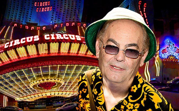 Photo illustration of Phil Ruffin and his Circus Circus Hotel & Casino in Las Vegas (Ollie Millington/Getty, Ethan Miller/Getty,Joan Slatkin/Education Images/Universal Images Group/Getty, iStock)