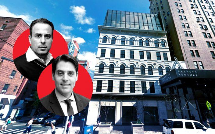 Ashkenazy Acquisition's Ben Ashkenazy and Daniel Levy with 115 Seventh Avenue (Google Maps, LinkedIn)