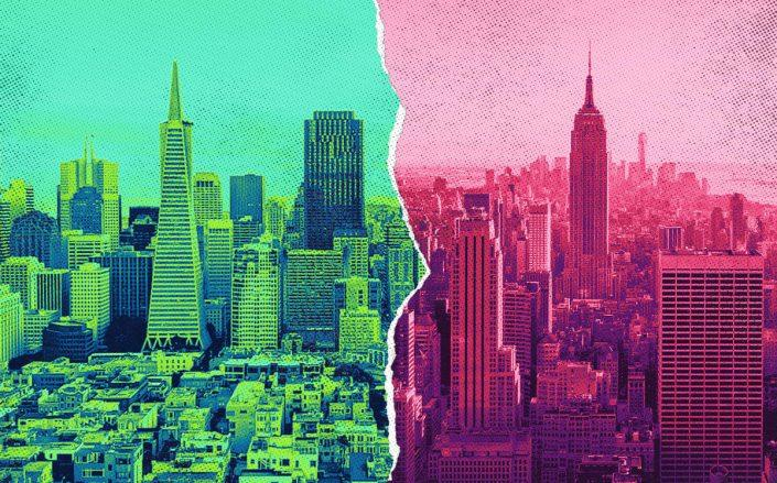 San Francisco and New York (iStock)