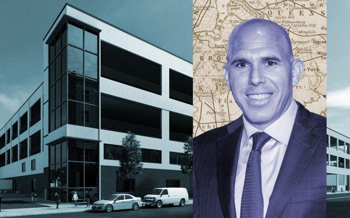 RXR CEO Scott Rechler with 56-19 Grand Avenue, Queens (Getty, RXR)