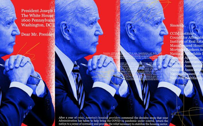 President Joe Biden (Getty/Illustration by Kevin Rebong for The Real Deal)